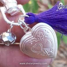 מחזיק מפתחות עם לב נפתח