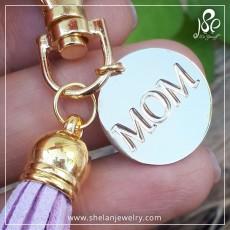 מחזיק מפתחות עם חריטת MOM